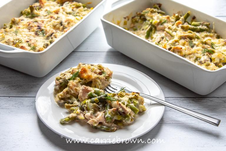 Salmon Asparagus Bake | Carrie Brown
