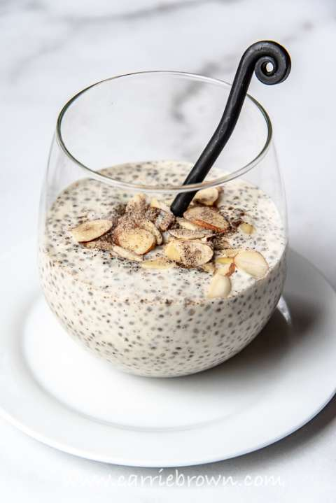 Cardamom Chia Custard | Carrie Brown