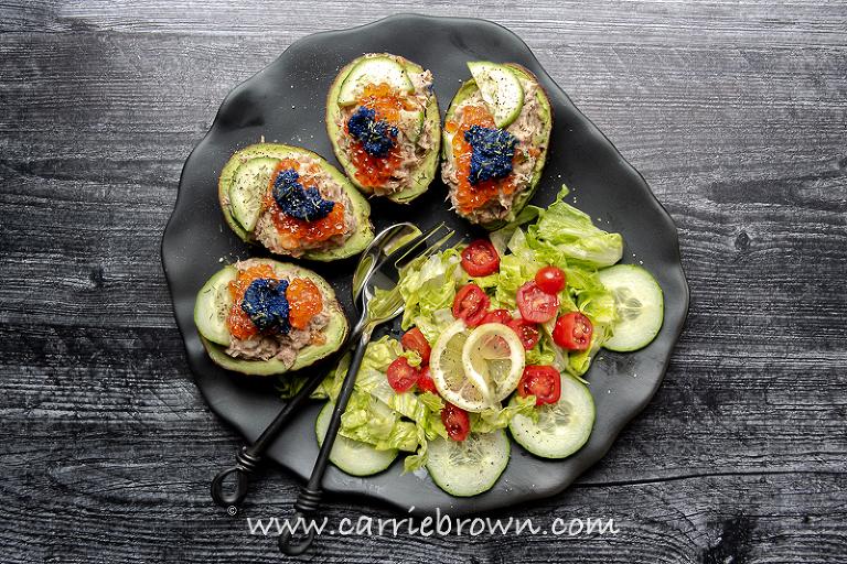 Super Seafood Stuffed Avocado | Yogi Parker